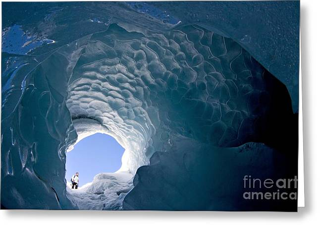 Pontresina Greeting Cards - Ice Cave, Switzerland Greeting Card by Dr Juerg Alean