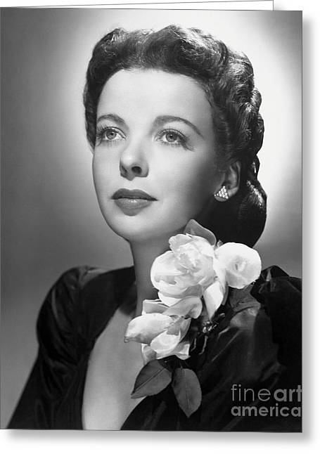 Leading Lady Greeting Cards - Ida Lupino Greeting Card by MMG Archive Prints
