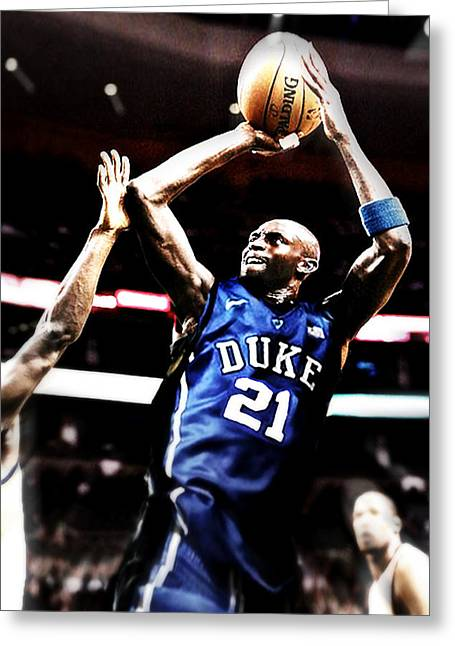 Kevin Garnett Greeting Cards - If They Played In College Greeting Card by Edward Pegues