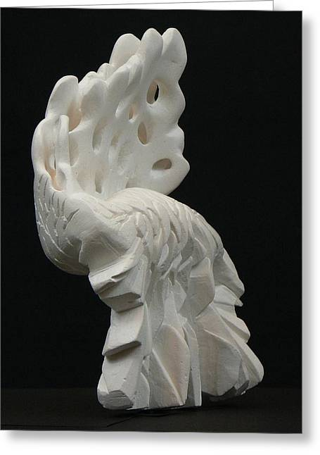 Organic Sculptures Greeting Cards - In Between Greeting Card by Yusimy Lara