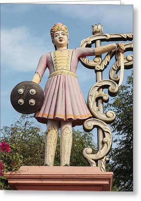 India, Rajasthan, Jhunjhunu District Greeting Card by Alida Latham