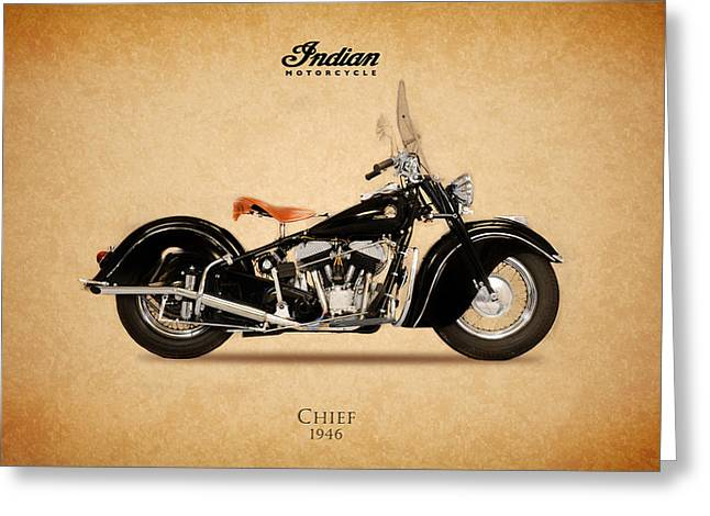 Indian Chief Greeting Cards - Indian Chief 1946 Greeting Card by Mark Rogan