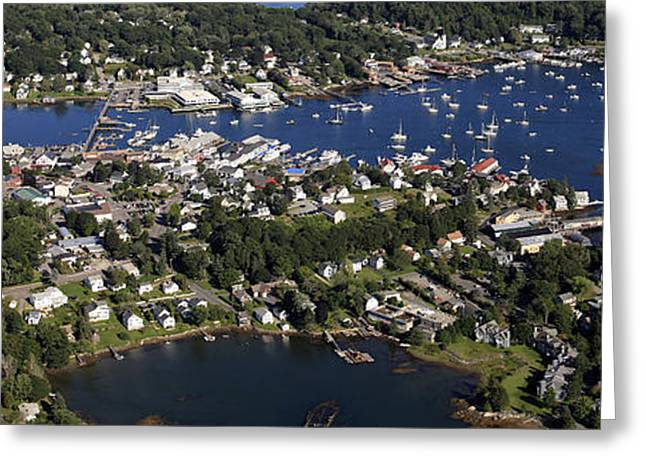 Boothbay Harbor Greeting Cards - Inner Harbor, Boothbay Harbor Greeting Card by Dave Cleaveland