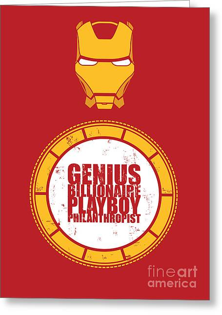 Genius Greeting Cards - Iron Man Greeting Card by Caio Caldas