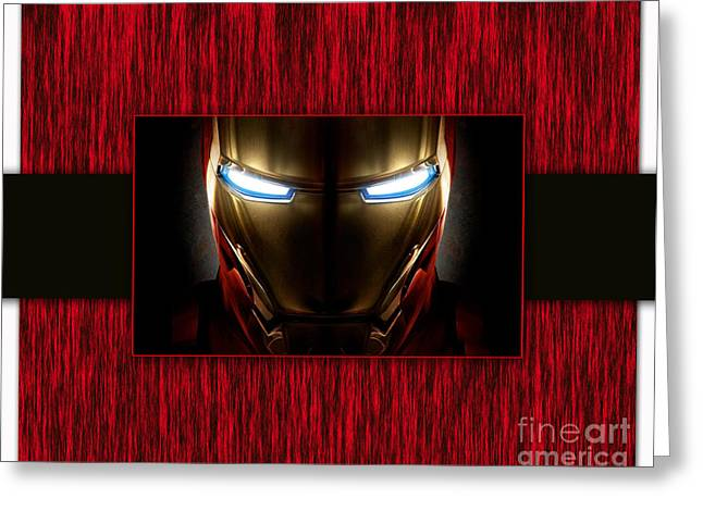 Iron Man Greeting Cards - Iron Man Greeting Card by Marvin Blaine