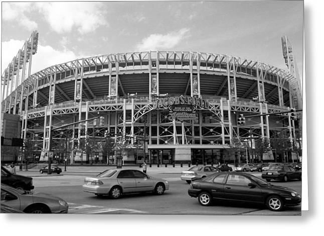 Police Posters Greeting Cards - Jacobs Field - Cleveland Indians Greeting Card by Frank Romeo
