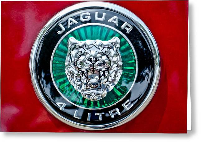 Jaguars Greeting Cards - Jaguar Emblem Greeting Card by Jill Reger