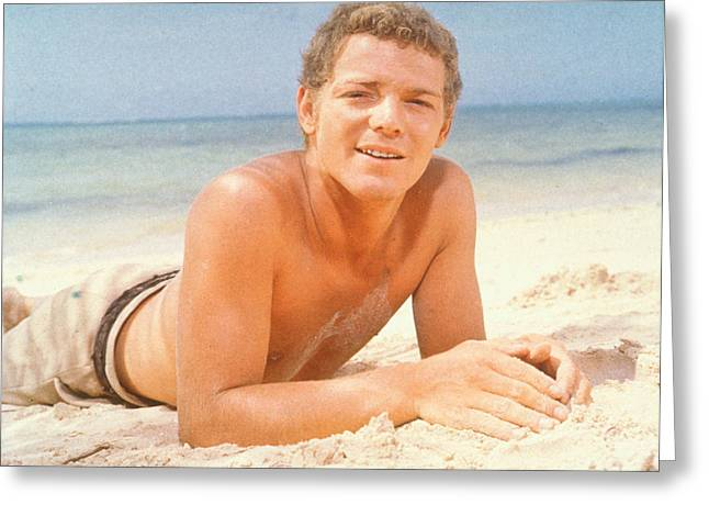 Macarthur Greeting Cards - James MacArthur Greeting Card by Silver Screen