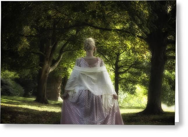 Jane Austen Greeting Card by Joana Kruse