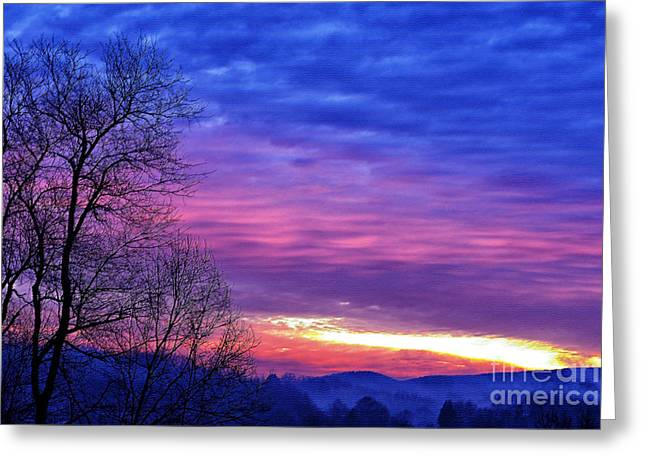 Colorful Cloud Formations Greeting Cards - January Sunrise Greeting Card by Thomas R Fletcher