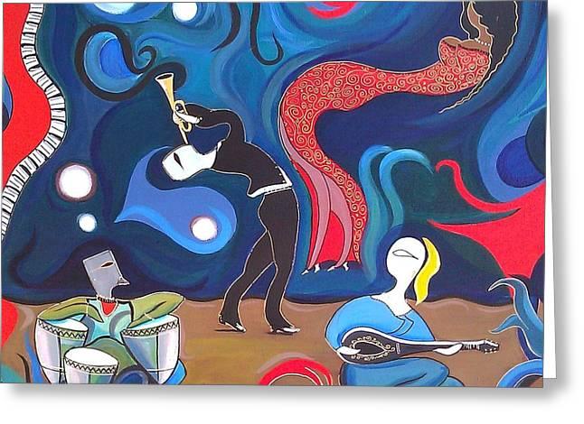 Jazz Greeting Card by John Lyes