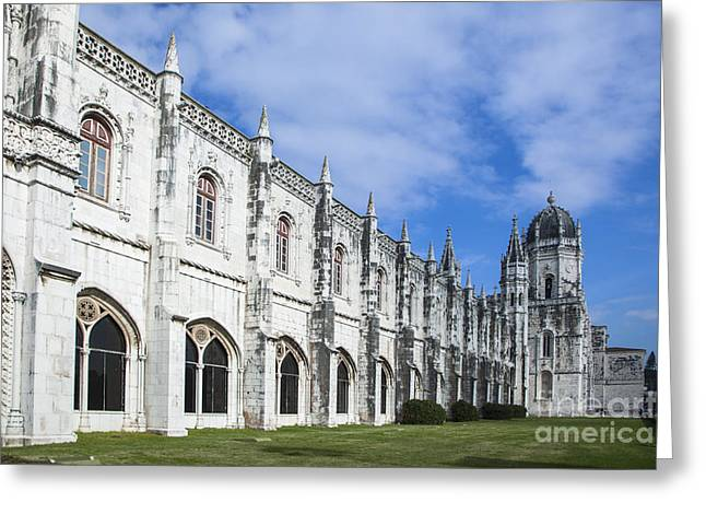 Jer Greeting Cards - Jeronimos Greeting Card by Maria Conceicao Pires - Lightfactory