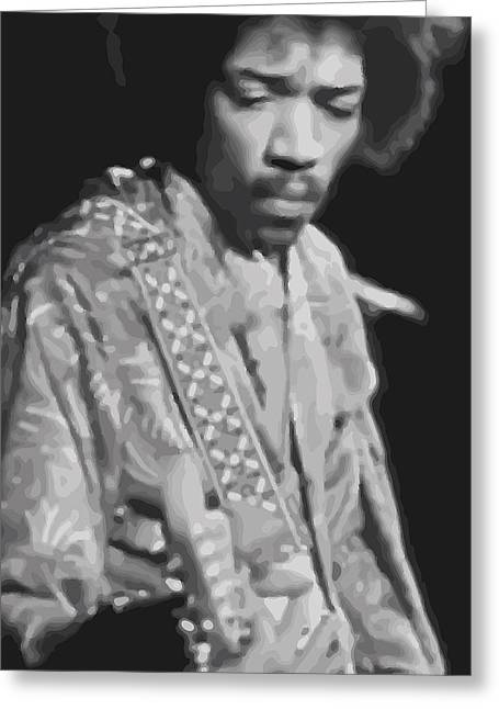 The Jimi Hendrix Experience Greeting Cards - Jimi Hendrix Greeting Card by Anon Artist
