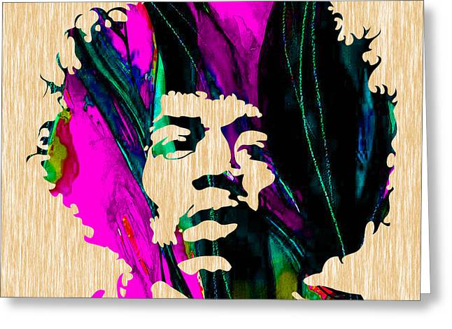 Concert Greeting Cards - Jimi Hendrix Painting Greeting Card by Marvin Blaine