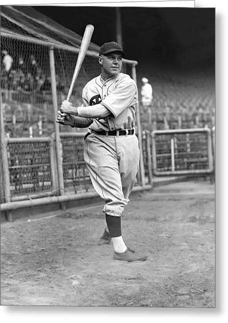 Philadelphia Phillies Stadium Greeting Cards - John F. Johnny Moore Greeting Card by Retro Images Archive