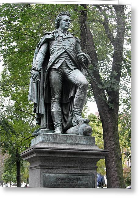 Statue Portrait Greeting Cards - John Glover (1732-1797) Greeting Card by Granger