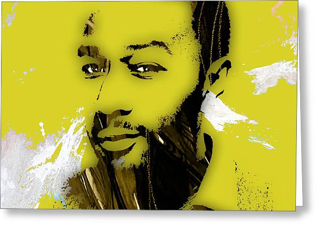 Pop Greeting Cards - John Legend Collection Greeting Card by Marvin Blaine