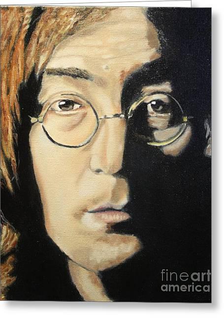 John Lennon Greeting Card by Michael Kulick