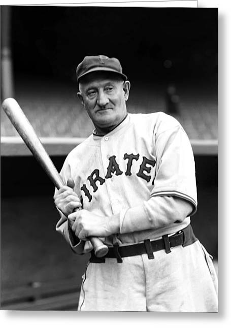 Honus Wagner Greeting Cards - John P. Honus Wagner Greeting Card by Retro Images Archive