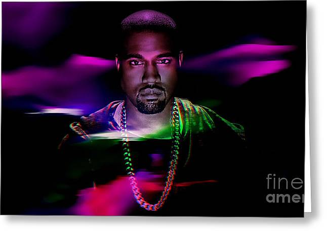 Rapper Greeting Cards - Kanye Collection Greeting Card by Marvin Blaine