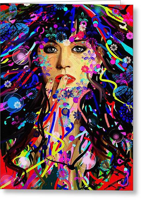 Katy Perry Greeting Cards - Katy Perry Greeting Card by Bogdan Floridana Oana