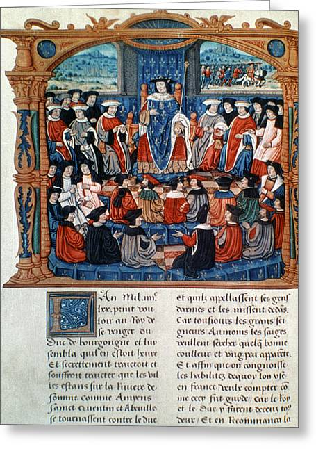 King Louis Xi Of France Greeting Card by Granger