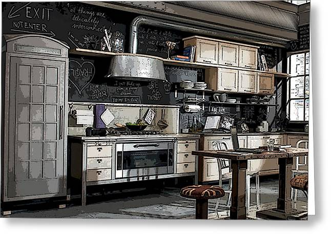 Wall Greeting Cards - Kitchen Greeting Card by Marvin Blaine