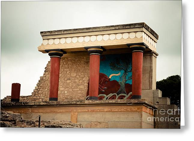 Minotaur Greeting Cards - Knossos Archeological Site Greeting Card by Gabriela Insuratelu