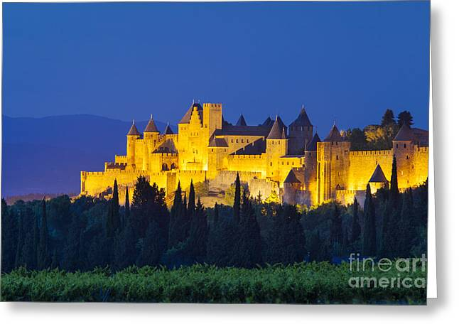 La Cite Carcassonne Greeting Card by Brian Jannsen