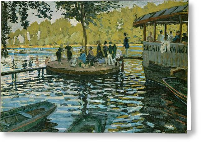 Grenouillere Greeting Cards - La Grenouillere Greeting Card by Claude Monet