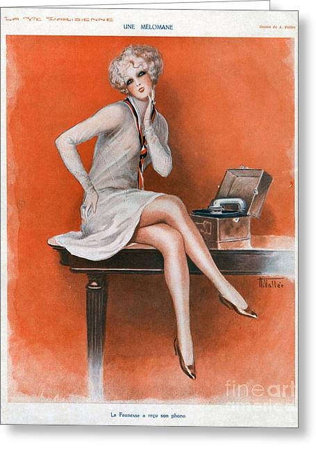 Twentieth Century Greeting Cards - La Vie Parisienne  1920s France Cc Greeting Card by The Advertising Archives