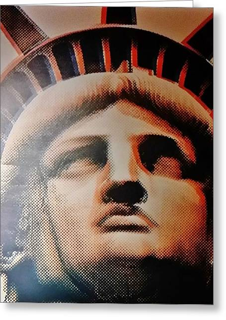 Statue Portrait Greeting Cards - Lady Liberty Greeting Card by Rob Hans