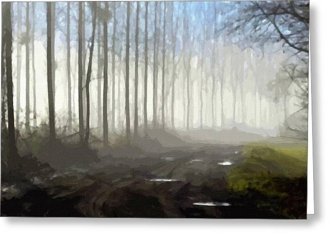 Landscape Framed Prints Greeting Cards - Landscape Greeting Card by Victor Gladkiy