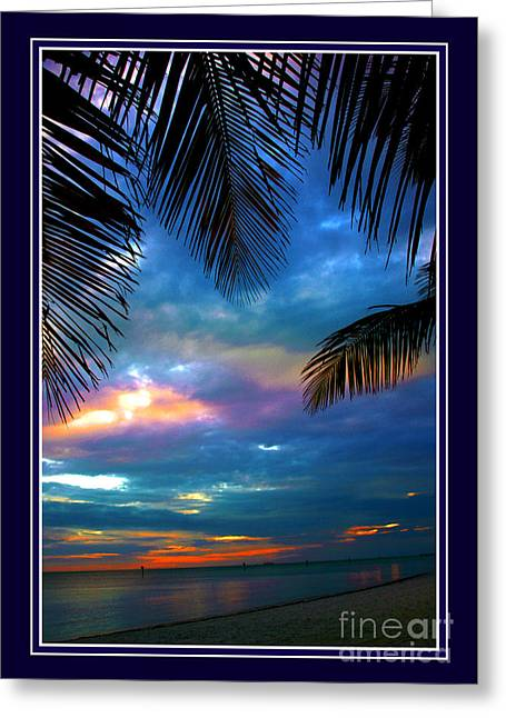 South West Florida Greeting Cards - Last Sunbeams Greeting Card by Susanne Van Hulst