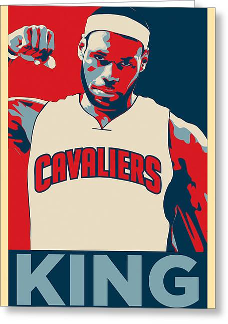Recently Sold -  - Kobe Greeting Cards - Lebron James Greeting Card by Taylan Soyturk