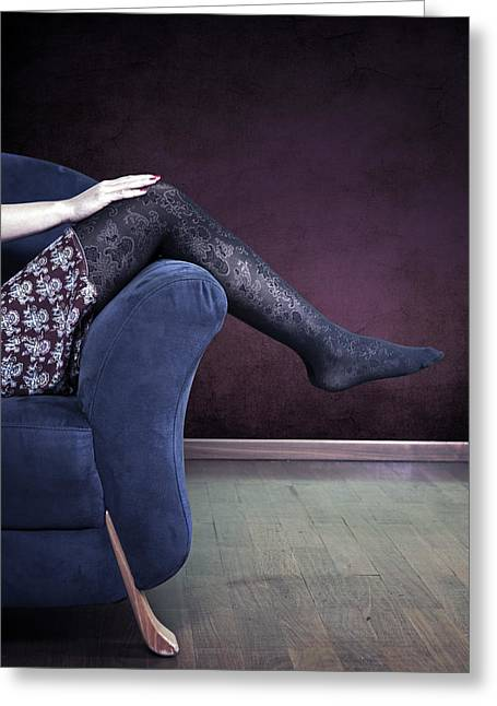 Armchair Greeting Cards - Legs Greeting Card by Joana Kruse