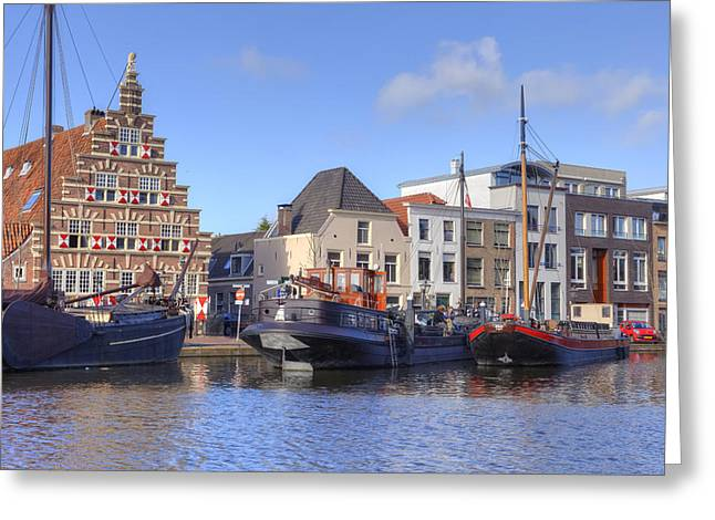 Port Town Greeting Cards - Leiden Greeting Card by Joana Kruse
