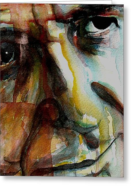 Photo . Portrait Greeting Cards - Leonard  Greeting Card by Paul Lovering
