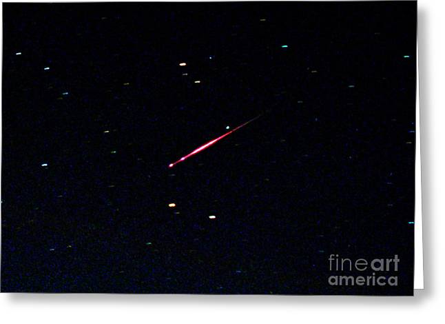 Meteor Shower Greeting Cards - Leonid Meteor Greeting Card by John Chumack