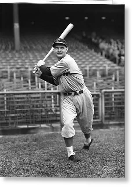 Baseball Bat Greeting Cards - Lew Riggs Greeting Card by Retro Images Archive