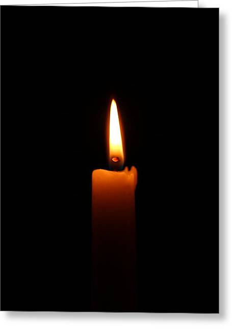 Candle Lit Greeting Cards - Light Greeting Card by Heike Hultsch