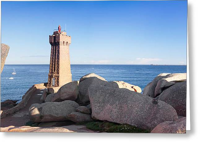 Rose Tower Greeting Cards - Lighthouse On The Coast, Leuchtturm Von Greeting Card by Panoramic Images