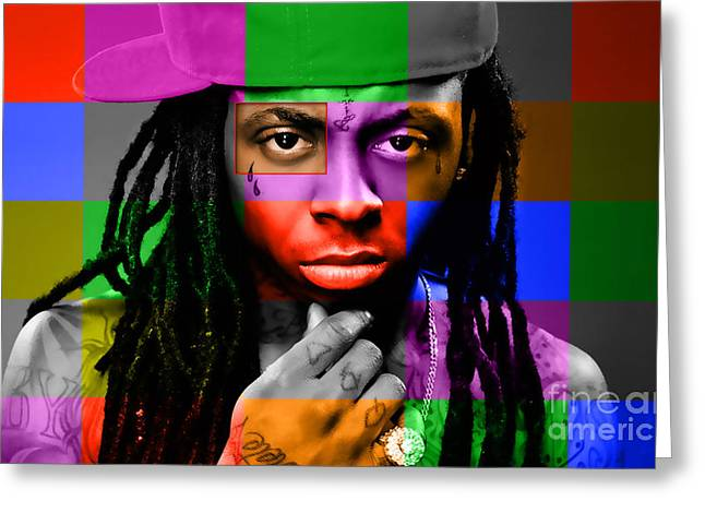 Lil Wayne Portrait For Sale Greeting Cards - Lil Wayne Greeting Card by Marvin Blaine