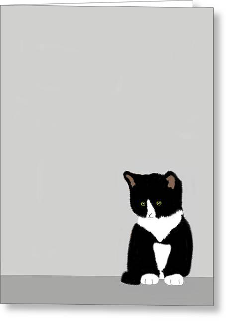 Moggy Greeting Cards - Little Millie Greeting Card by Paul Hill