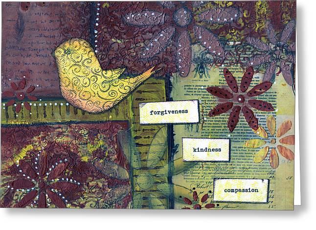3 Little Words Greeting Card by Sue Brassel