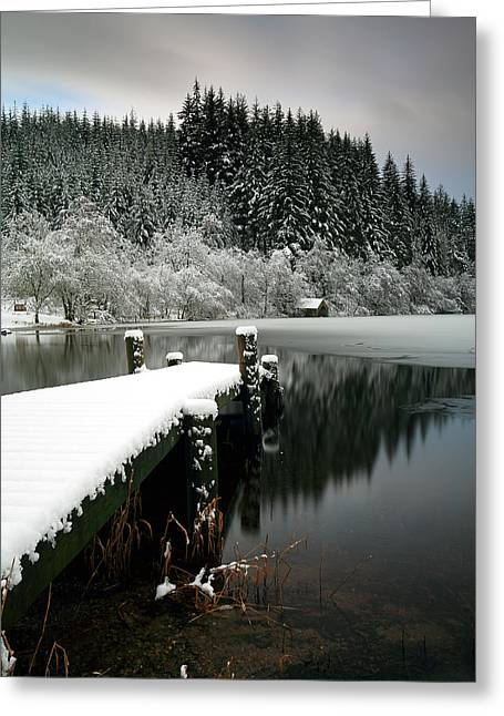 Scotland Wall Art Greeting Cards - Loch Ard Winter Scene Greeting Card by Grant Glendinning