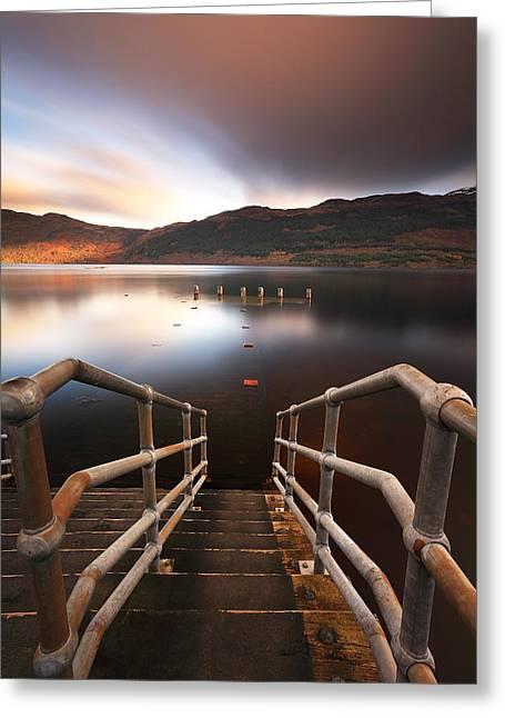 Scottish Scenic Greeting Cards - Loch Lomond Jetty Greeting Card by Grant Glendinning