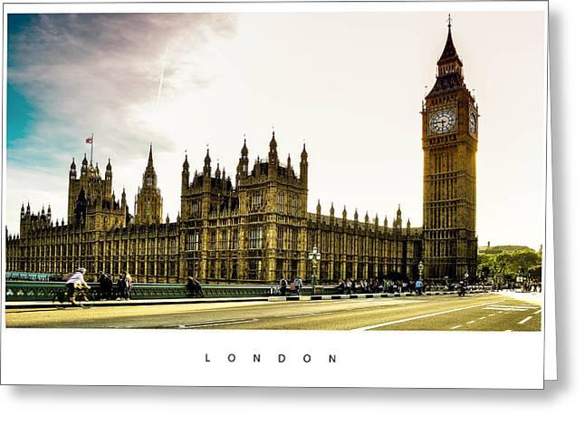 London Pyrography Greeting Cards - London Greeting Card by Anusha Hewage
