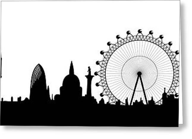 Locations Digital Art Greeting Cards - London skyline Greeting Card by Michal Boubin