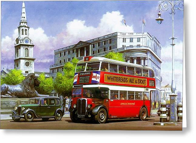 Austin Landmarks Greeting Cards - London Transport STL Greeting Card by Mike  Jeffries